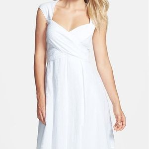 Jessica Simpson White Seersucker Dress